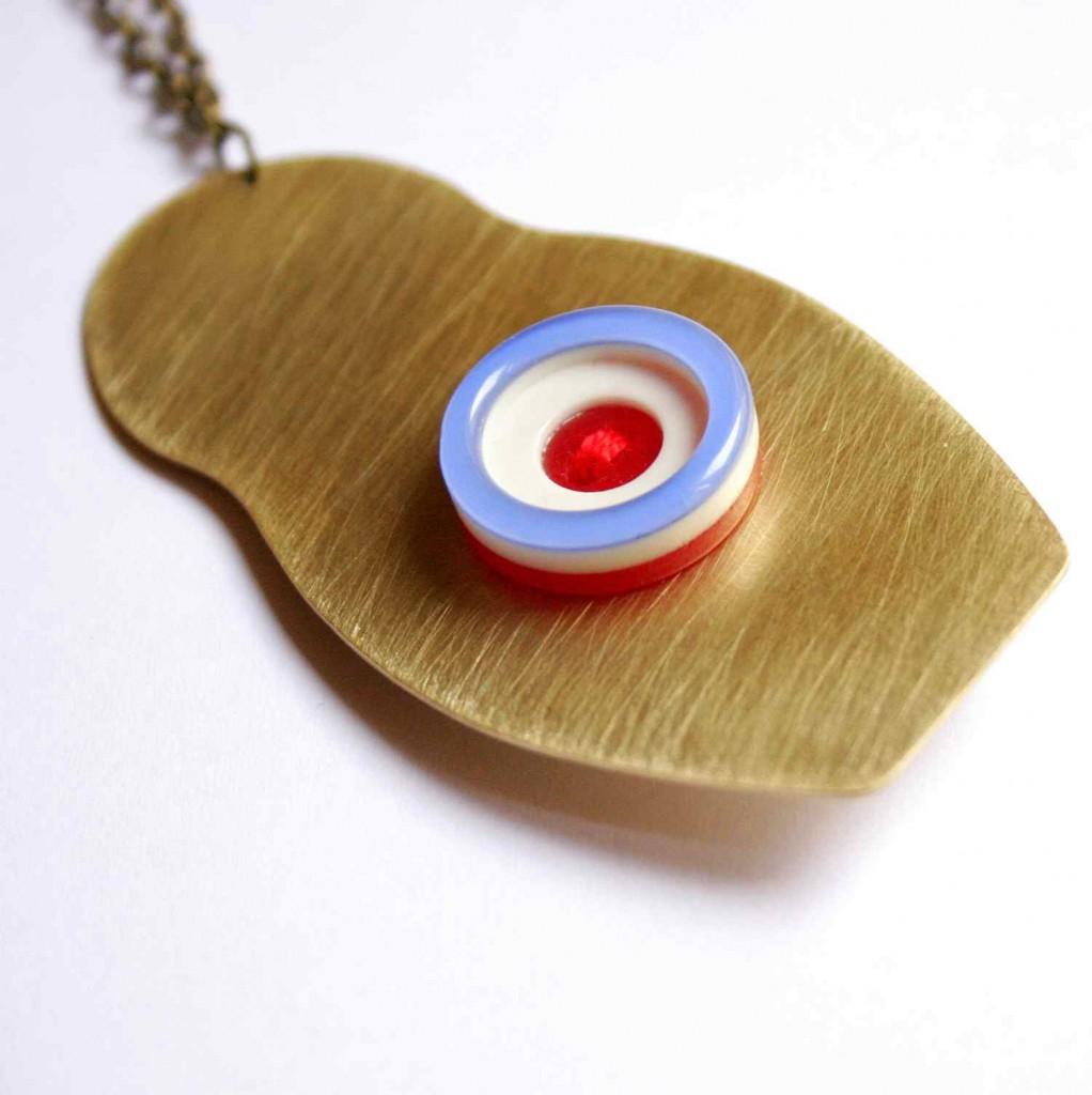 matrjoska design nyaklánc vadjutka / babushka necklace