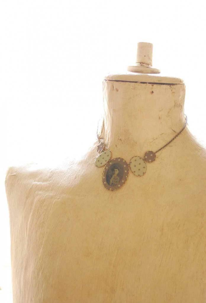 janka design nyaklánc vadjutka ősök textil