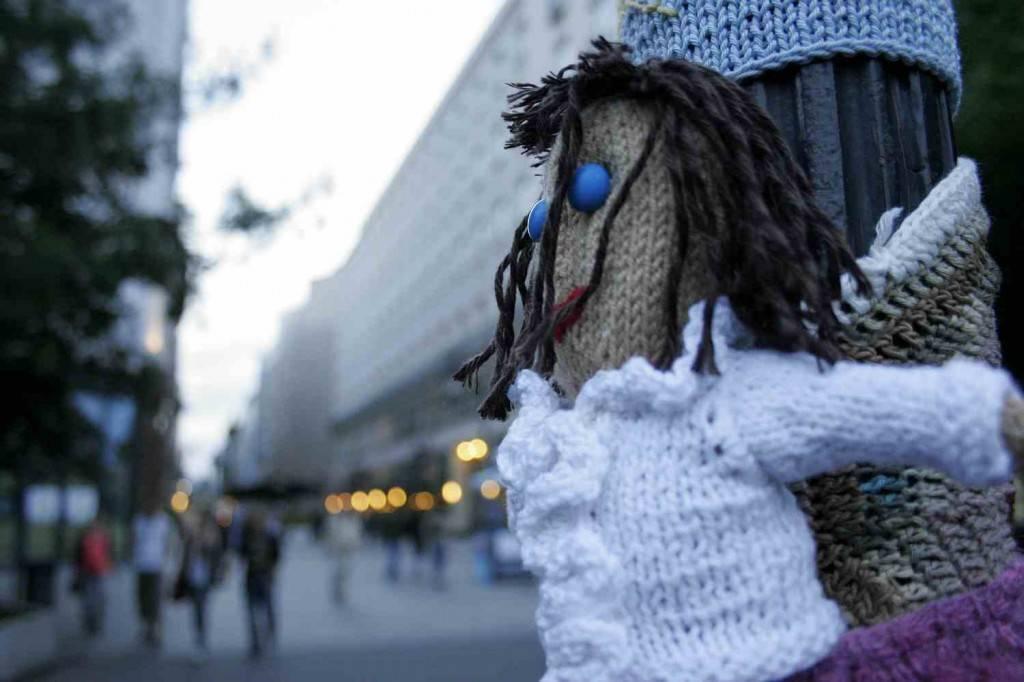 gerilla kötés budapest 2012 / guerilla knitting 2012 budapest
