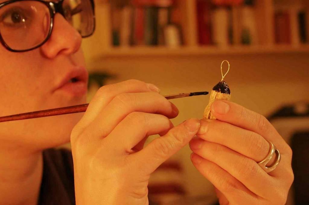 hogyan készül a mogyorós garland