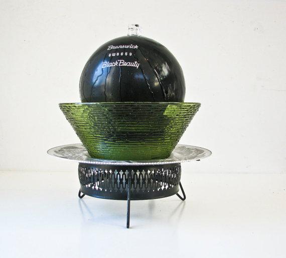 szökőkút bowling labdából