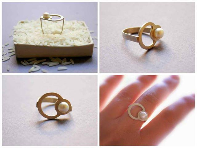 gyöngyös gyűrű / ring with pearl