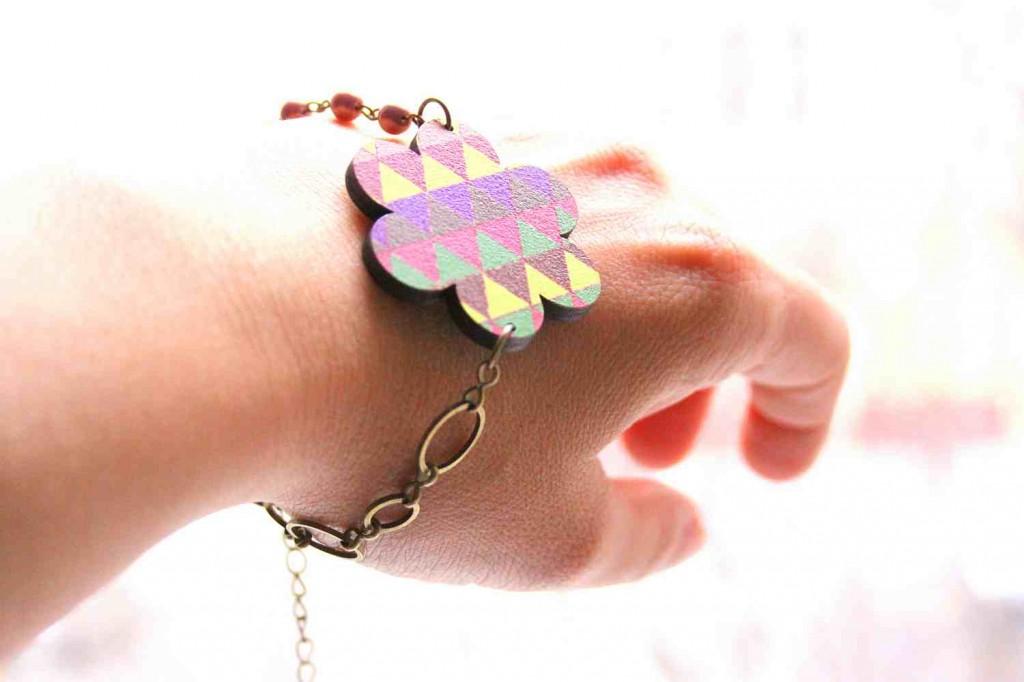 flower bracelet woody line
