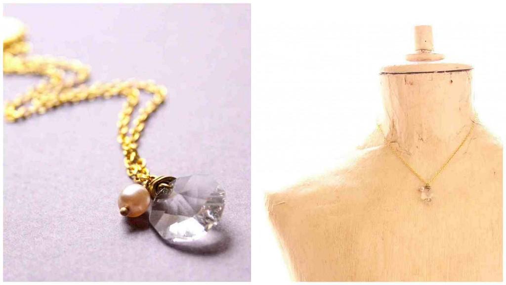 egyszerű menyasszonyi nyaklánc / simple bridal necklace