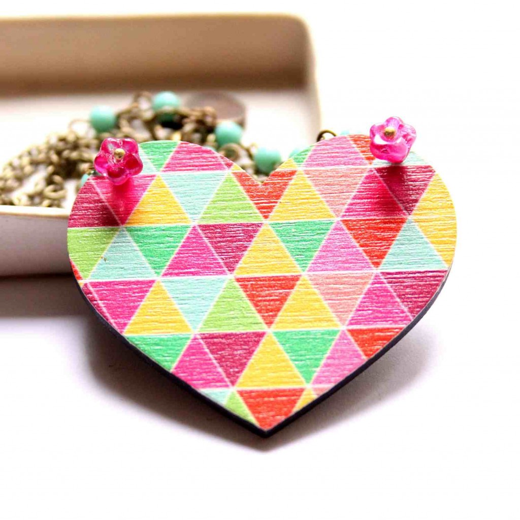 valentin napi szív nyaklánc