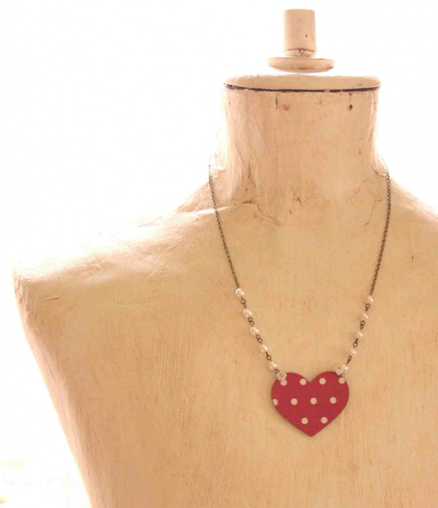 funky love necklace