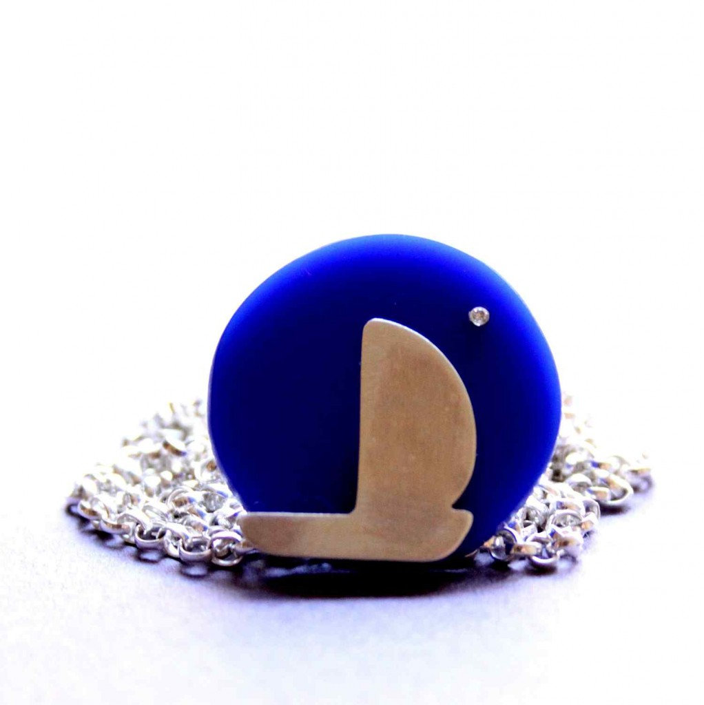 sailing in the night sterling silver necklace