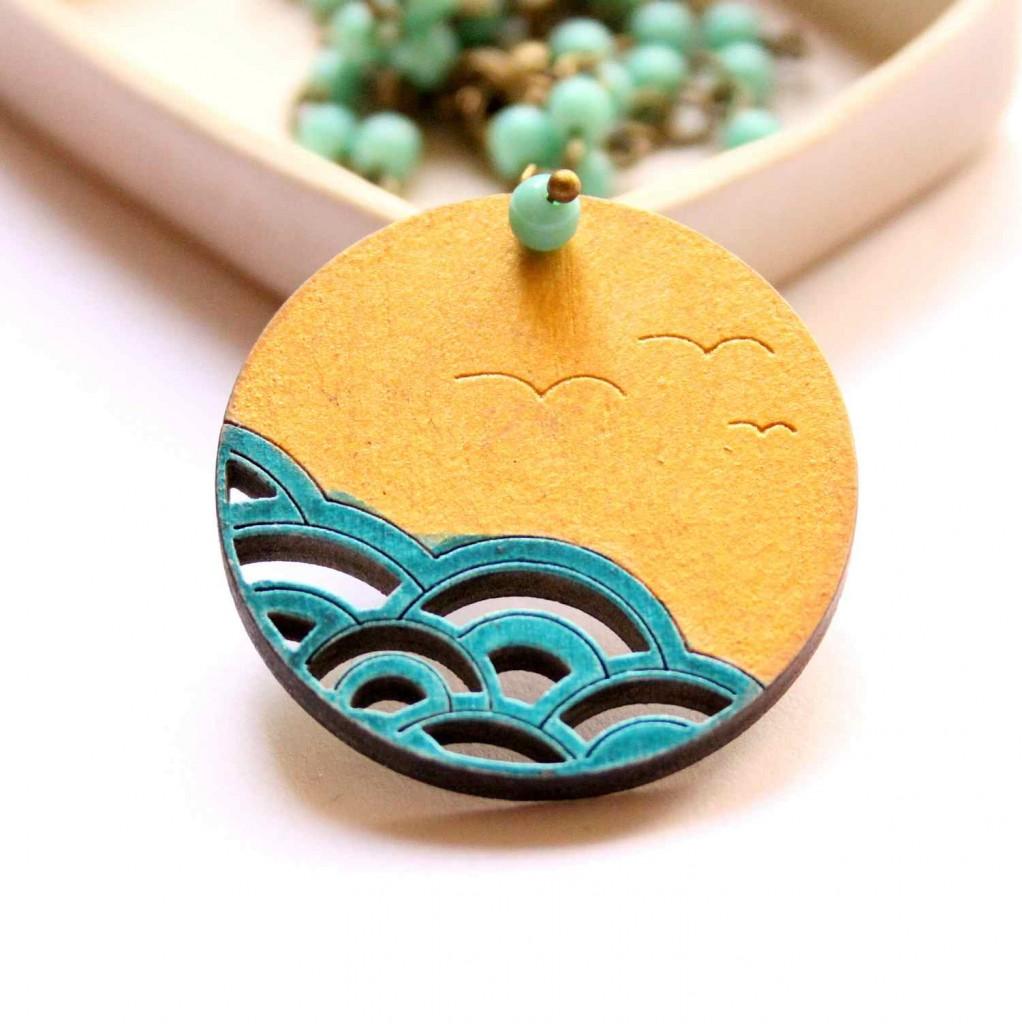 a tenger medál - vadjutka design ékszer