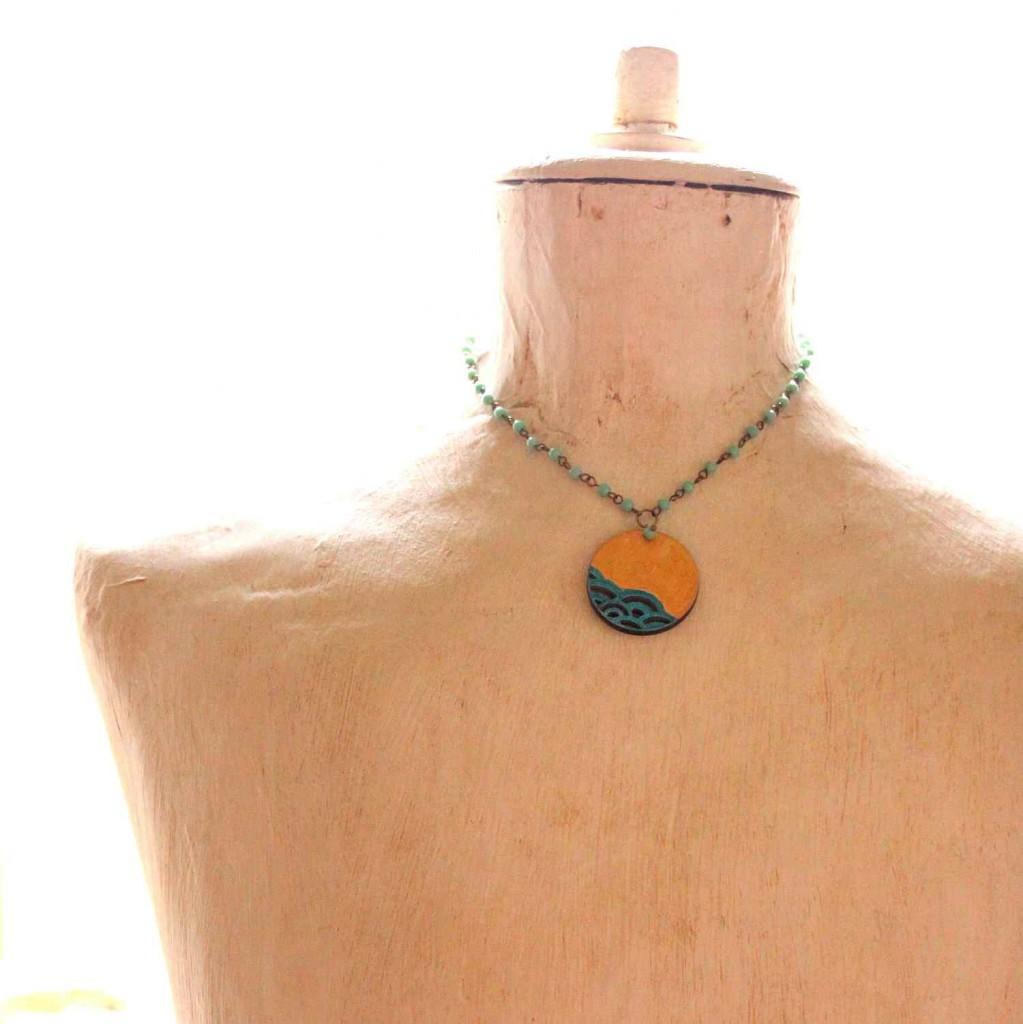 the sea pendant - design jewelry