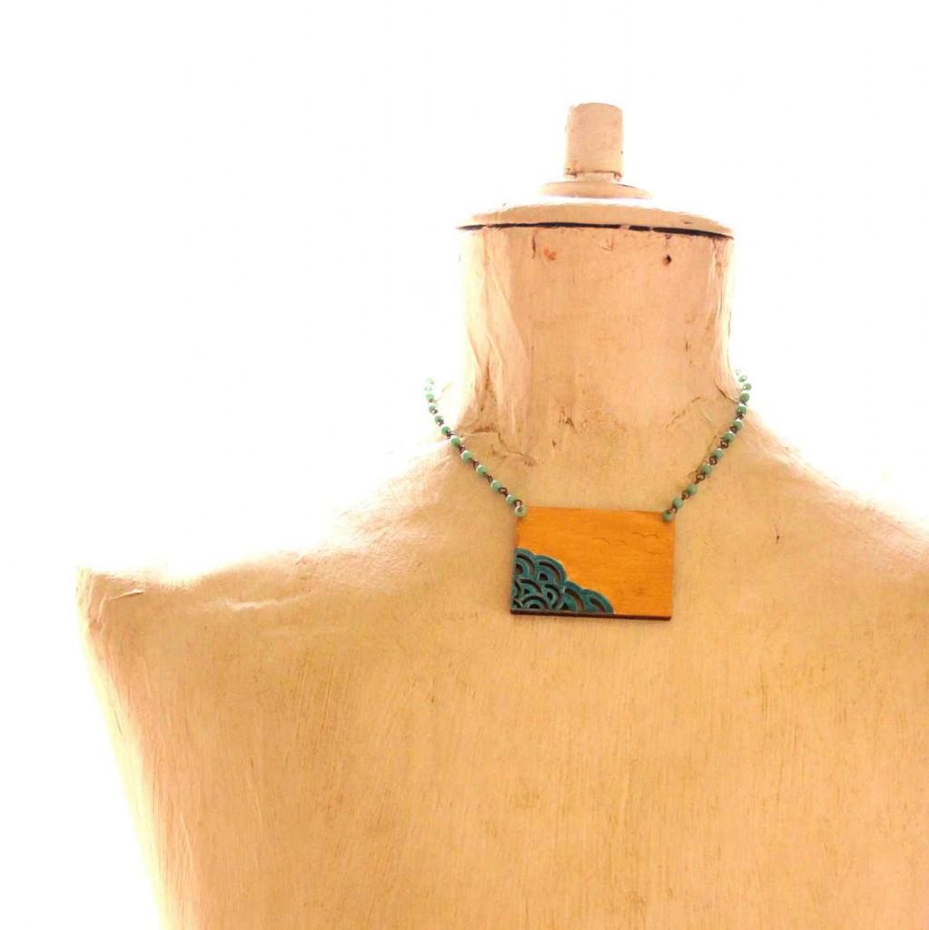 statement nyaklánc a tenger vadjutka design ékszer