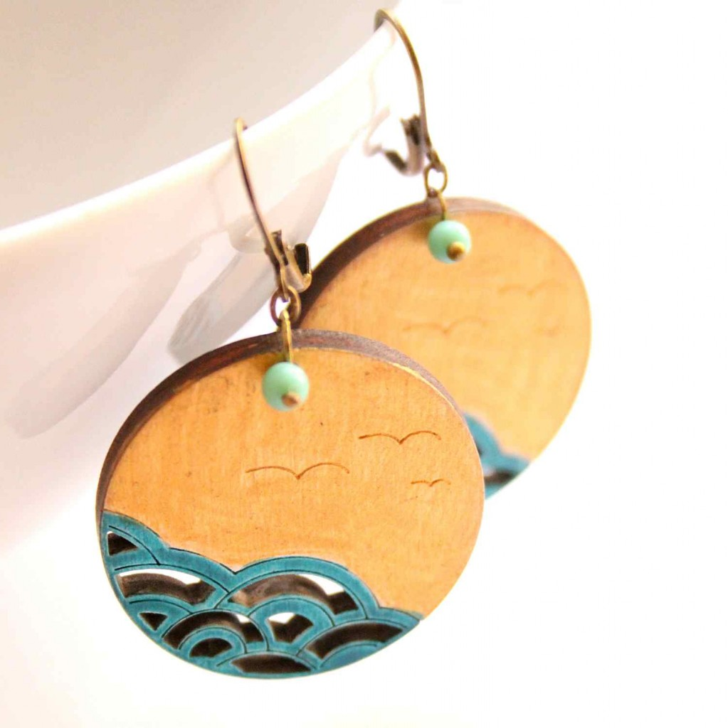 the sea design jewelry earrings