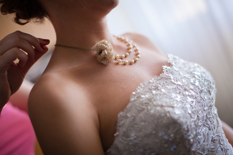 esküvői nyaklánc
