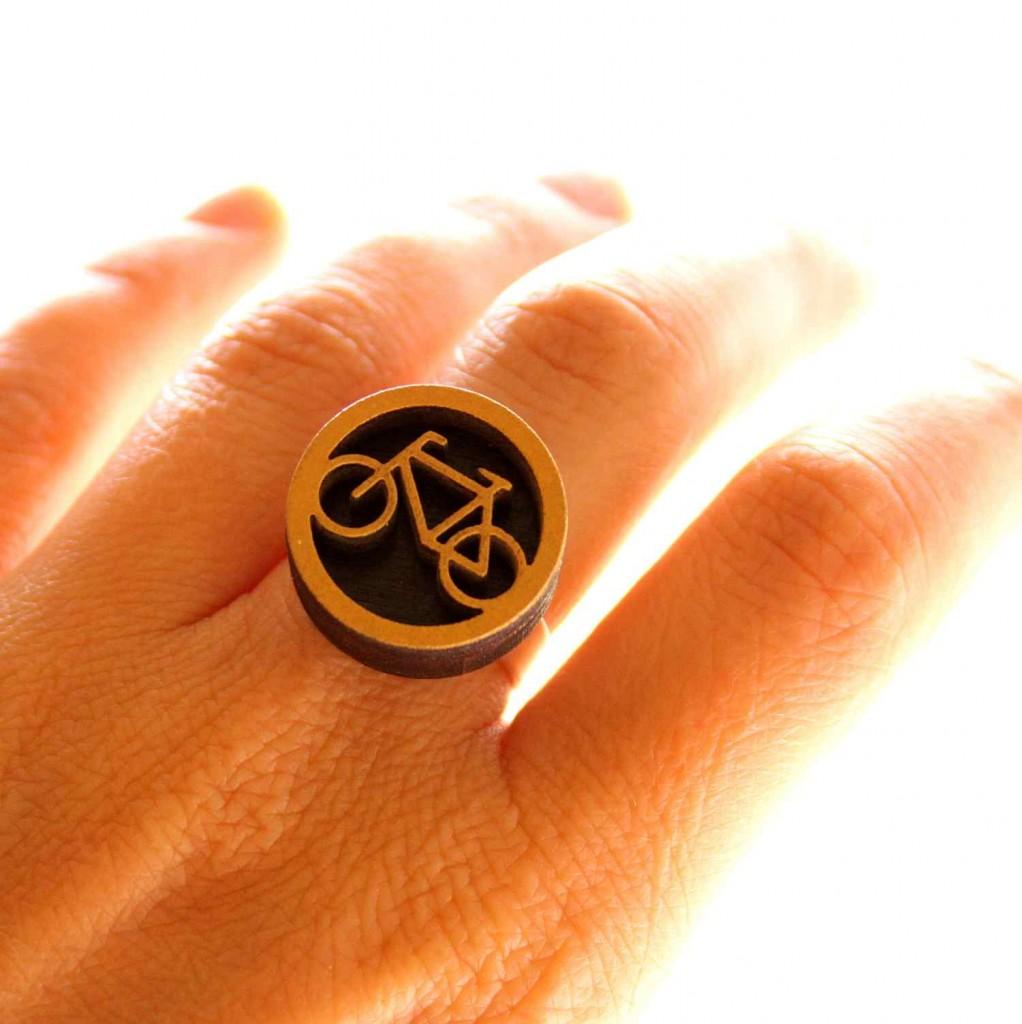 biciklis gyűrű vadjutka