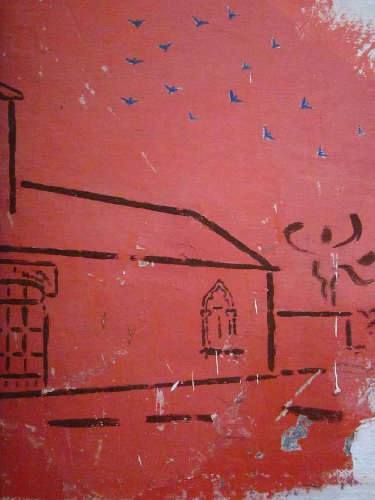 falfestmény, senj