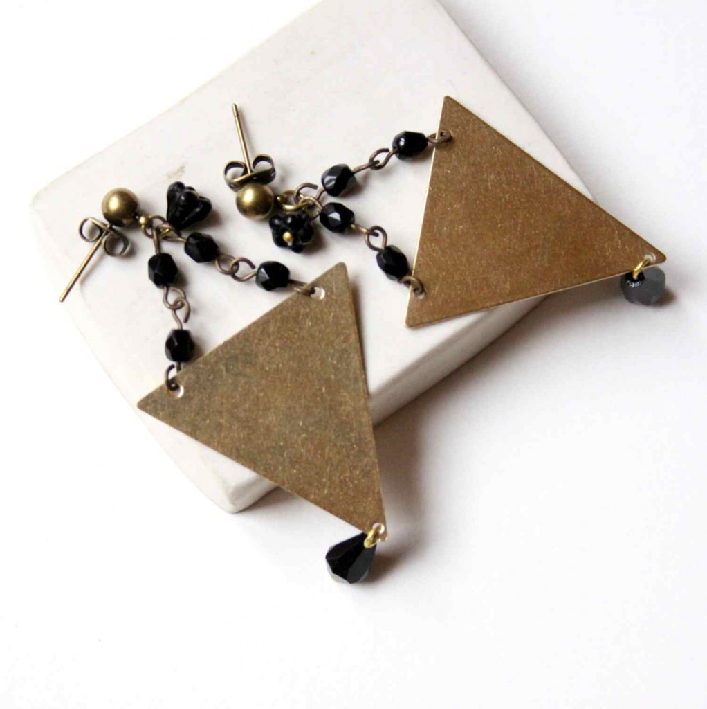 big geometric statement earring