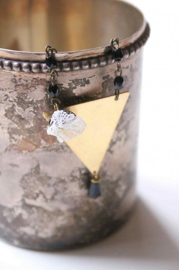 hármszög nyaklánc - vadjutka design ékszer