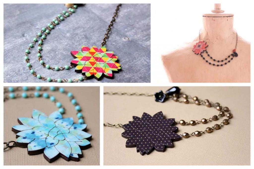houseleek necklace / kövirózsa design ékszer nyaklánc