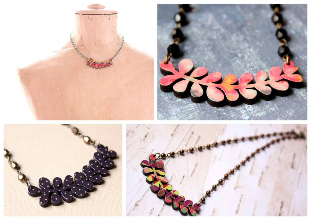 succulent necklace / pozsgás növény nyaklánc