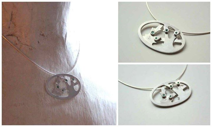 családi ezüst medál / family sterling silver pendant