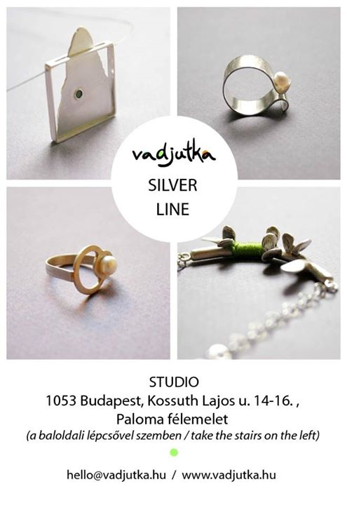 ezüst képeslap / vadjutka silver line