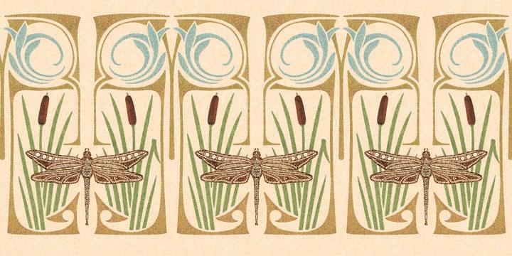 art deco szitakötő / dragonfy