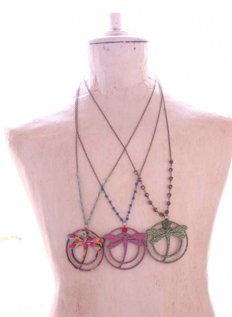 dragonfly modern necklaces by vadjutka
