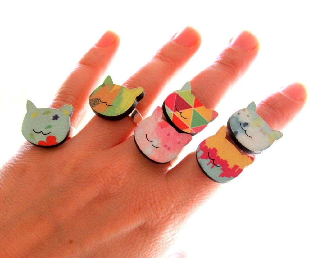 Noé bárkája kollekció: cica gyűrű / Noah's Arc collection cat ring